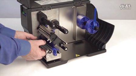 美国普印力条码打印机T2N胶辊更换操作方法
