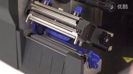 美国普印力条码打印机T2N碳带安装