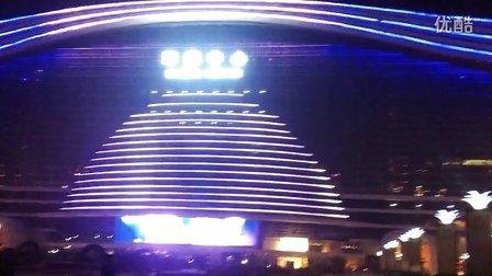 成都环球中心喷泉夜景
