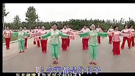 广场秧歌舞蹈《好日子》示范表演 动作分解教学