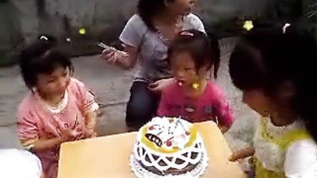 雨欣生日(3个小孩吃蛋糕)