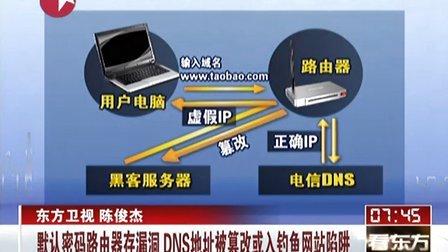 默认密码路由器存漏洞  DNS地址被篡改或入钓鱼网站陷阱[看东方]