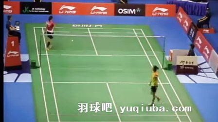 王适娴VS裴延姝女单比赛视频 2013新加坡羽毛球公开赛 -羽球吧