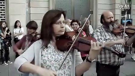 成都伟杰伦拍摄西班牙萨瓦德尔街头古典音乐快闪-欢乐颂 高清