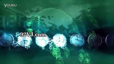 09旋转的时钟 绿色