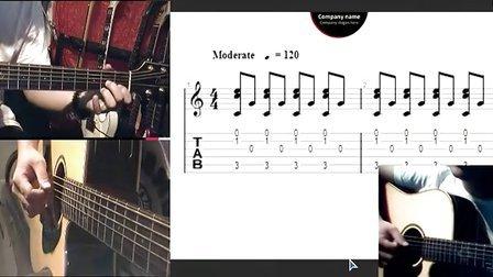 黑蜘蛛吉他教学从零起步课程第四课