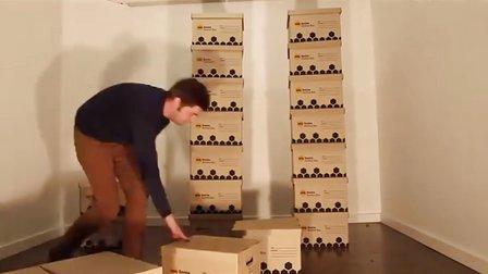 [搞笑动物]主人用40纸箱做猫咪迷宫送给爱猫