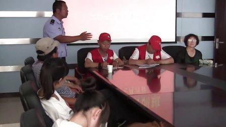 赤峰阳光之家志愿者协会参加2013年7月6日元宝山区交通引导员培训班