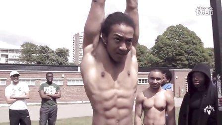 【阿苏科斯】黑人街头健身 不可思议上肢力量