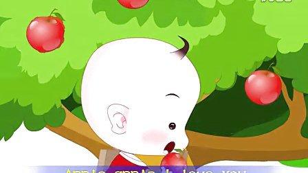双语儿歌经典动画之苹果树(英文版)