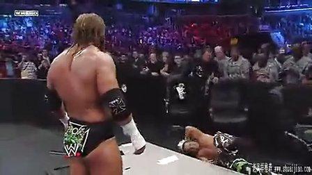WWEDX VS约翰赛纳(三重威胁赛)