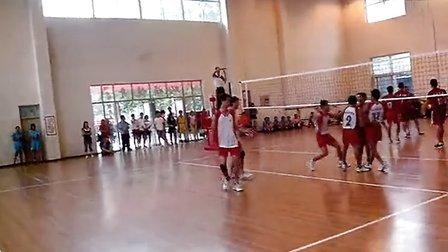 河南省大学生排球比赛商丘师范3比2河南大学