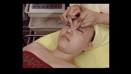 美容按摩手法眼部淋巴排毒护理手法 学习视频教程 美容院护理手法