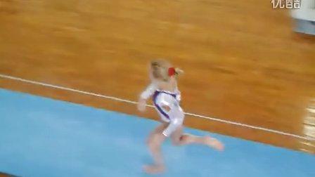 2013中俄对抗赛 女子跳马决赛  Ekaterina Sokova VT 第一跳