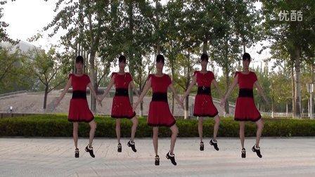 红翠琳广场舞-飞歌醉情怀(原创)及背面动作分解