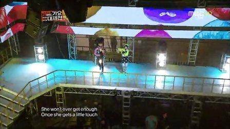 121231 MBC 歌谣大战f(x) shinee合作舞台Pop song Medley