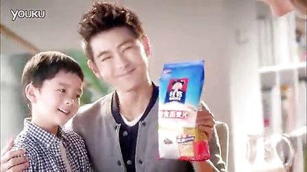 阳光大男孩林志颖带小baby共同代言 桂格即食燕麦片:三好益健康