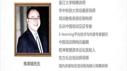 TTT培训即培训师培训 职业讲师练荣斌老师视频简介
