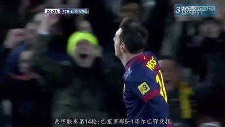 310直播网201213赛季西甲联赛最佳射手梅西进球全记录