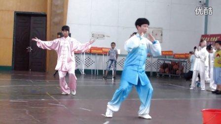 聊城吴小杰小弟子周书欣在陈氏56式太极拳比赛中