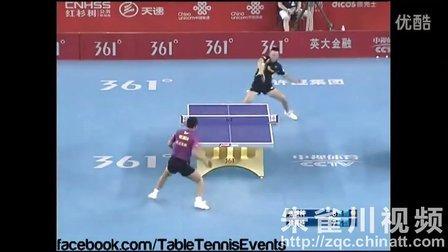 2013 中国乒乓球超级联赛 徐晨浩vs张继科 精彩 冷门