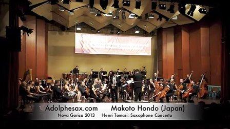 Makoto Hondo - Nova Gorica 2013 - Henri Tomasi Saxophone Con