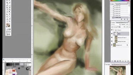 9) 女裸体CG绘画教程