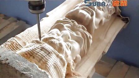 傩面雕刻机 脸谱雕刻机视频 江西非物质文化加工