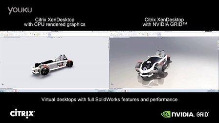 XenDesktop SolidWorks CPU Only vs. GRID K2