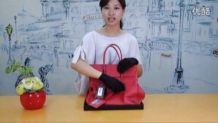 【奢华视界】巴黎世家balenciaga全羊皮红色手提包