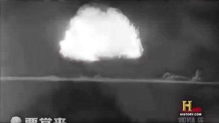 轰炸日本的原子弹小男孩影像资料