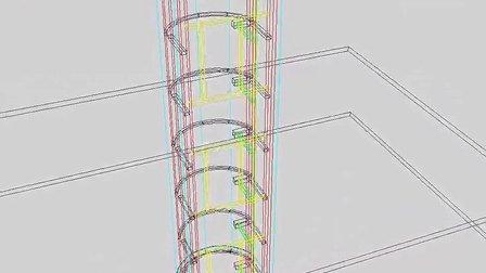 观光电梯钢结构3D模型1-  www.double-j.com.cn