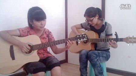 俩美女合作滴答吉他弹唱(吉他天地)
