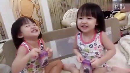 超萌!双胞胎宝宝学粤语