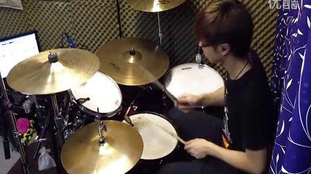 [Drum cover]忍者乱太郎 主題曲 - 勇氣100%