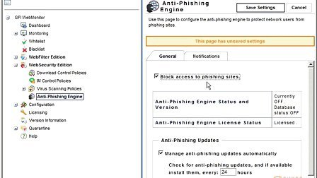 GFI Software - Enabling Anti Phishing features in GFI WebMon