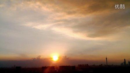广州生物岛山顶看夕阳西下 (3)