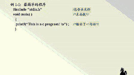 谭浩强版C语言程序设计视频教程(1)