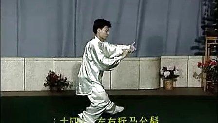 杨氏太极拳40式带口令字幕 陈思坦背向示范(高清)