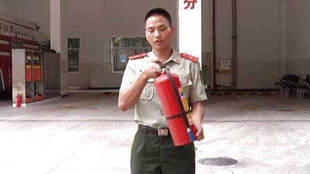 手提式干粉灭火器使用方法-广州珠江东消防中队训练基地开放日