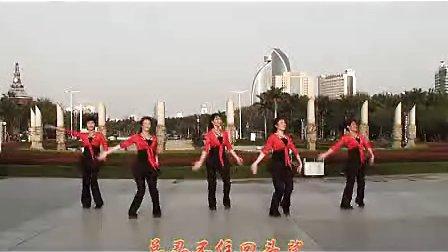 《幸福爱河》海之韵广场舞 (正、反面演示)