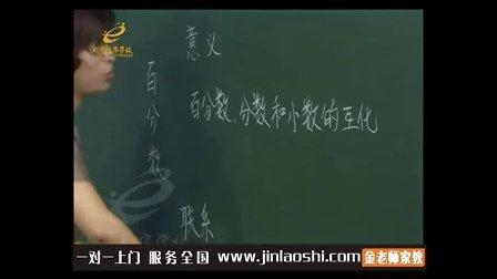 小学六年级数学名师精讲百分数复习课赵岩金老师家教