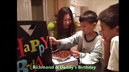 生日快乐Richmond和daddy