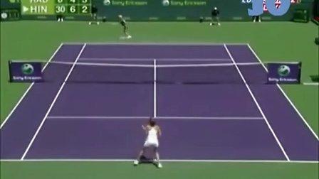 2007年 WTA迈阿密站第3轮 A-拉德万斯卡 VS 辛吉斯 Highlight