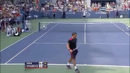 Janko Tipsarevic vs Jack Sock ~ Highlights ~ US Open 2013R3