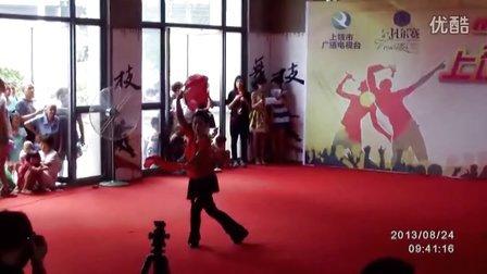 上饶王艳广场舞 天地人双扇舞.