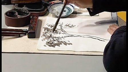 水墨画树-华斌教育局招聘无生试课小学美术二年级教学视频
