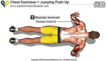 跳跃俯卧撑(高级的胸肌锻炼) 标清