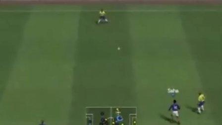 实况足球2007法国VS巴西5:1上半场