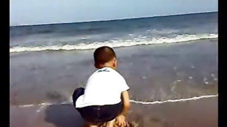 周末游海边.